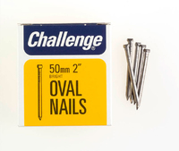 Challenge Bright Steel Oval Nails 50mm 225g - 12016