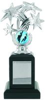 20cm Silver Star Trophy on Black Base