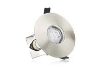 EvoFire 70-100mm cut-out IP65 Fire Rated Downlight Round Stain Nickel