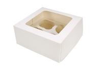 90081 - BOX-CUPCAKE-SQ-WHITE- holds 4