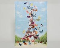 Kaemingk 3D Canvas Eiffel Towel with Butterflies