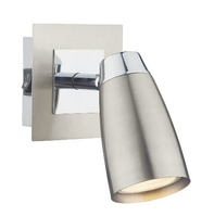 Loft 1 Light Low Energy Spot, Switched Satin Chrome and Polished Chrome | LV1802.0035