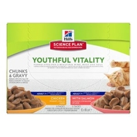 Hill's Feline Youthful Vitality 85g Pouch Multipack 12pk x 4 x 1