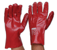PVC Single Dip Glove Red 27cm