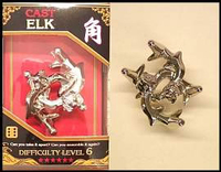 Cast Elk. Silver Cast Puzzle Difficulty Level 6. Can be ordered in multiples of 1.