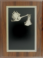 Stork & Baby Plaque | TC112
