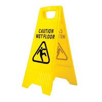 Wet Floor Warning Sign Hi-Vis Yellow