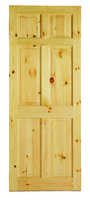 """6 P Pre Fin Red Deal Door 6' 6"""" X 2' 2"""" Sq. Top"""
