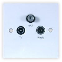 TV/Radio/Sat Wall Plate (304102)