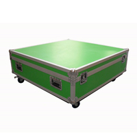 Prostage Flightcase for 4 of 1m x 1m panels & risers