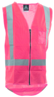 Hi Vis Night Only Zip Safety Vest