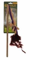 Country Pet Cat Toy - Fleece Wand x 1