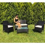 Natalia 4 Seater Rattan Garden Set - Black 1