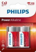 PHILIPS POWER ALKALINE BATTERY C 12X2