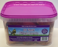 Suet to Go Small Half Filled Coconuts in Tub x 30