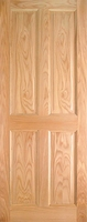 Indoors Lawrence Pre-Fin Oak 4-Panel Engd Door 80X32