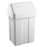 Max Swing Bin and Lid White 25Ltr