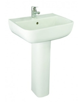 SONAS SERIES 600 520 BASIN W520 X H810 X D425 MM WITH FULL PEDESTAL 1 TAP HOLE
