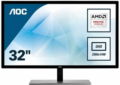 "AOC 31.5"" QHD Gaming FreeSync Monitor"