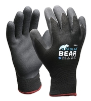 Polar Bear Thermo Winter Gloves Grey/Black