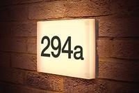 6w Outdoor Night Sign Wall Light 3000K