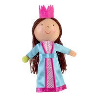 Princess & the Pea Wooden Head Finger Puppet.
