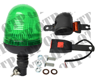 Beacon Flexi Green With Seat Belt Kit Domed