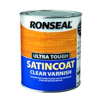 RONSEAL ULTRA TOUGH SATINCOAT CLEAR VARNISH 750 ML