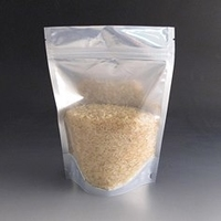 250g Green/Clear stand up pouch.