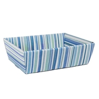 TRAY 29X21X9CM BLUE STRIPES ASST