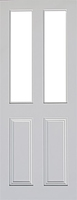 Indoors Claremont Primed Door Bevellled Glazed 80X32