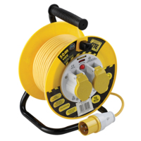 110V SITE POWER 2 SOCKET CABLE REEL 50 METRE