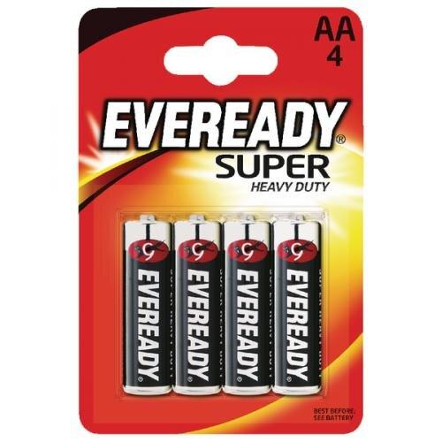 EVEREADY SUPER HEAVY DUTY BATTERY AA CARD 4