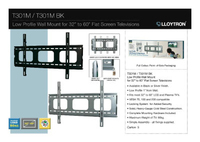 "LLOYTRON LCD/PLASMA BRACKET 32""-65"""