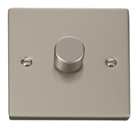 Click Deco Victorian Pearl Nickel 1 Gang 2 Way Dimmer | LV0101.0130