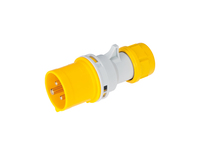 IP44 Quick Assembly Straight Plug 2 Pin + Earth 110-130V 16A