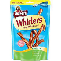 Bakers Treat Whirlers Bacon & Cheese 175g x 6