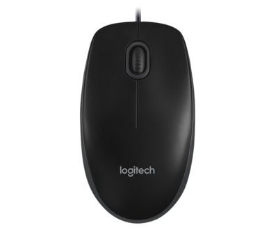Logitech B100 Optical USB Mouse - Black