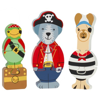 pirate animal jigsaw puzzle set