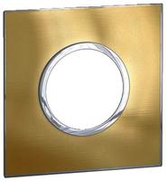 Arteor (British Standard) Plate 2 Module 1 Gang Round Gold Brass | LV0501.0837