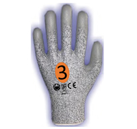 REDBACK UHMWPE PU Coated Glove Cut 3 (Pair)