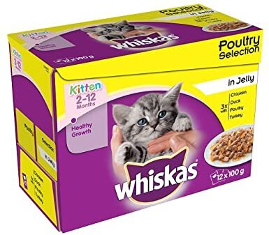 Whiskas 2-12 month Kitten Poultry Selection in Jelly 4 x 12 x 100g