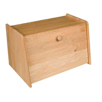 Rubberwood Drop front Bread Box