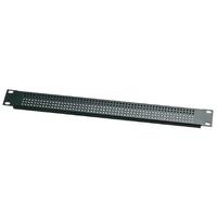 Euromet 00618 | Front rack ventilation panel, 1U, Black