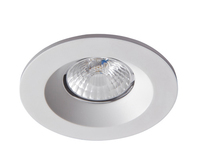 CAVAN 8W COB LED downlight, IP44, 9 0mm, Satin silver, 3000K, dimmable