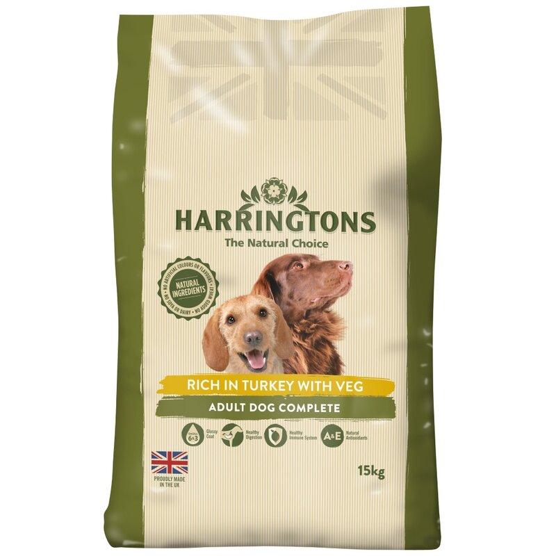 Harringtons Turkey & Vegetables Dog Food 15kg