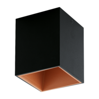 EGLO Polasso Black and Copper 1x3.3 LED 3000k Ceiling Light | LV1902.0099