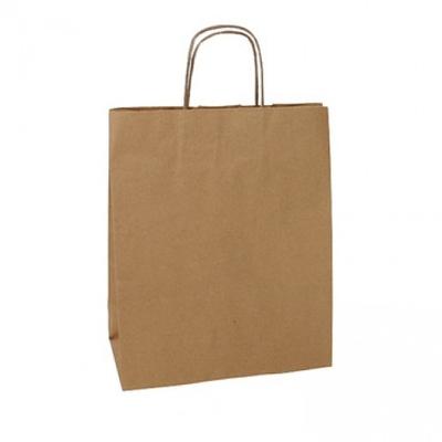 PAPER BAG NATURAL KRAFT SMALL 25X12X30 PKT 25