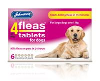 Johnson's 4-Fleas Dog Flea Tablets 6 Tab x 1