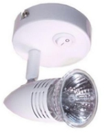 SS50WH 50W Spotlight Surface Switched GU10 w/o Lamp IP20 Whi